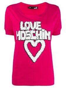 Love Moschino graphic T-shirt - Pink