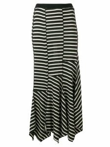 Sonia Rykiel asymmetric striped skirt - Black