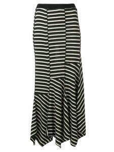 Sonia Rykiel asymmetric striped skirt - Black