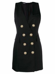 Balmain double breasted tuxedo dress - Black