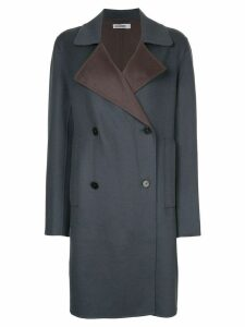 Jil Sander double breasted coat - Blue