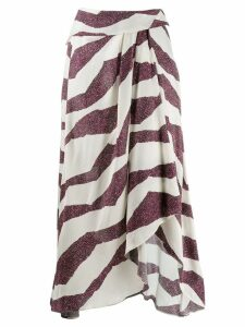 Isabel Marant printed wrap skirt - Neutrals