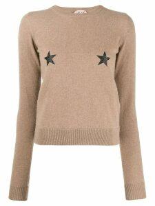Nº21 star knitted jumper - Neutrals