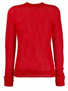 Rick Owens round neck sweater - Red