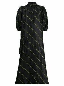 Ganni maxi shirt dress - Black
