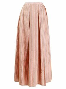 Thierry Colson striped flared skirt - Pink