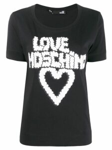 Love Moschino graphic T-shirt - Black