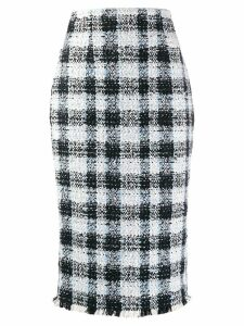 Alexander McQueen check midi skirt - Black