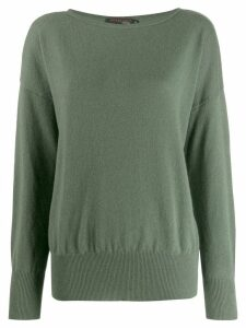Incentive! Cashmere oversized jumper - Green