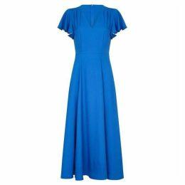 Yumi Ruffle Sleeve Maxi Dress With Side Splits