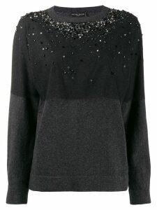 Fabiana Filippi sequin-embellished cashmere jumper - Black