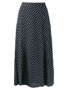 Michael Michael Kors dot print midi skirt - Black