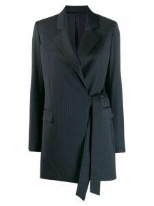 Joseph pinstripe wrap blazer - Blue