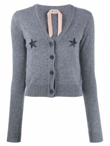 Nº21 star print knitted cardigan - Grey