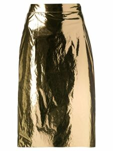 Nº21 high-waist pencil skirt - Gold