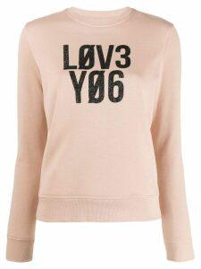 Red Valentino slogan print jumper - Pink