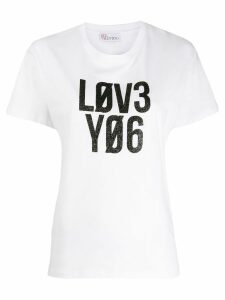 Red Valentino slogan print T-shirt - White