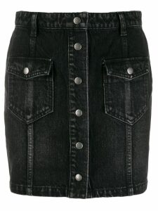 Saint Laurent front button fastening denim skirt - Black