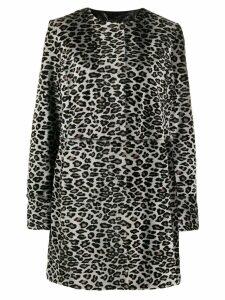Drome leopard print coat - Grey