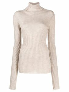 Jil Sander ribbed knit sweater - Neutrals