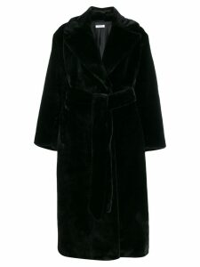P.A.R.O.S.H. faux fur robe coat - Black