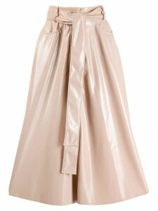 MSGM high waisted patent skirt - PINK