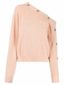 Nanushka asymmetric sweater - Neutrals