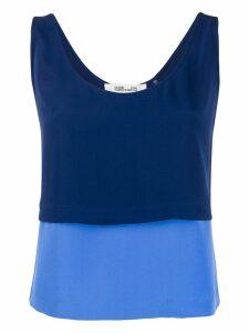 Diane von Furstenberg two-tone tank top - Blue