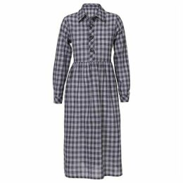 Carolina Cavour Midi Check Dress With Buttons