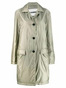 Jil Sander classic fitted trench coat - Grey