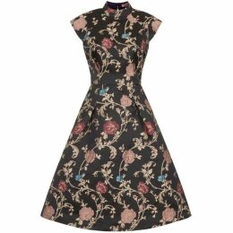 Chi Chi Floral Print High Neck Midi Dress
