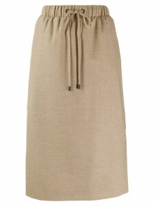 Peserico drawstring straight skirt - Neutrals