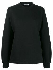 T By Alexander Wang logo print sweatshirt - Black