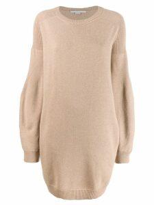 Stella McCartney knitted sweater dress - Neutrals