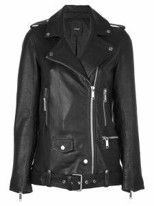 Lth Jkt Emi boyfriend biker jacket - Black