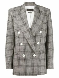 Isabel Marant plaid double breasted blazer - Black