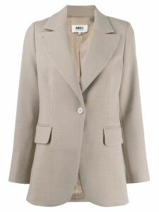 Mm6 Maison Margiela tailored blazer - NEUTRALS