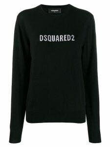 Dsquared2 contrast logo sweater - Black