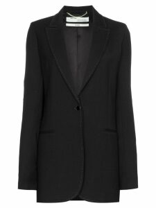 Off-White single-breasted longline blazer - Black