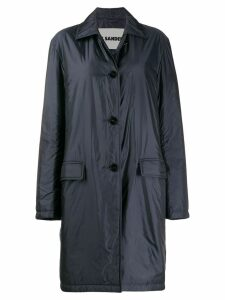 Jil Sander classic fitted trench coat - Blue