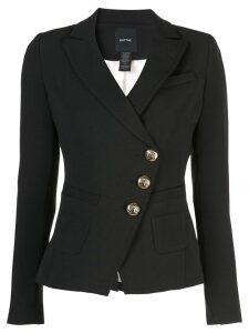 Smythe diagonal button blazer - Black