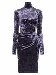 Off-White fitted velvet dress - Blue