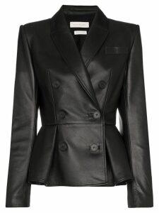 Alexander McQueen double-breasted peplum jacket - Black