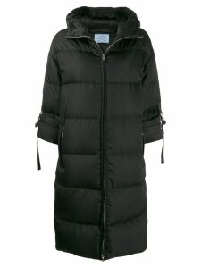 Prada padded zip fastening coat - Black