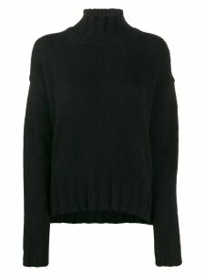 Dondup roll-neck fitted sweater - Black