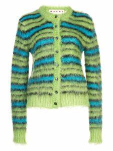 Marni striped cardigan - Green
