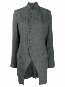 Y's asymmetrical coat - Grey