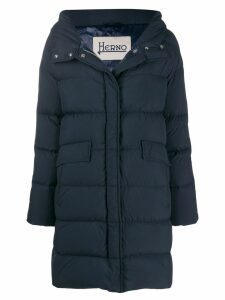 Herno hooded puffer coat - Blue