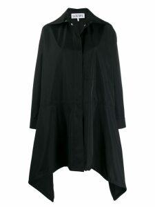Loewe drawstring hem coat - Black