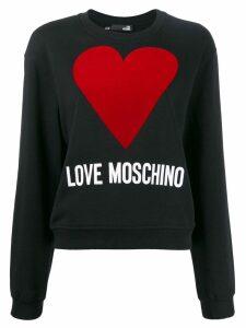 Love Moschino heart graphic sweater - Black